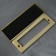 Internal Brass Letterbox Tidy & Draught Excluder