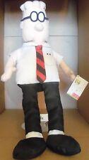 "Dilbert plush stuffed animal 15"" NWT Black pants white shirt"
