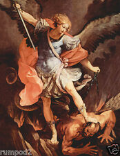 Michael the Archangel/Poster/Artist Guido Reni (1575–1642)/Painting 17x22 in