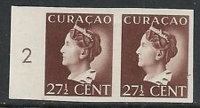 Curacao 1941 NVPH 148 Imperforated PAIR  UNG  VF