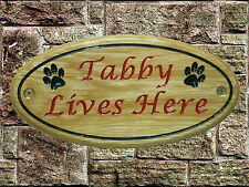 Personalised Wooden House Name Plaque/Signs-Solid wood Oak, Porch, Conservatory