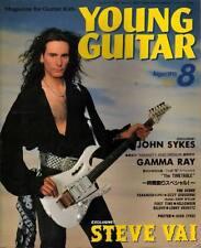 Young Guitar Aug/93 Steve Vai John Sykes Zakk Gamma Ray Ozzy Lenny Kravitz