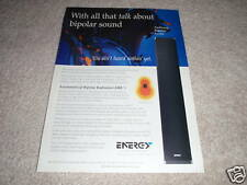 Energy Audissey Bipolar Speaker Ad from 1997