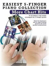 Easiest 5-Finger Piano More Chart Hits Play POP Songs EASY Beginner Music Book