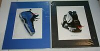 Sneaker Shoe Print Ad Poster Advertising Matted Ready To Frame | You Pick