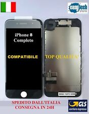 DISPLAY LCD Touch Screen TIANMA iPhone 8 COMPLETO  Fotocamera Cassa Frame  NERO
