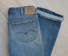VTG USA Made Levi's 517 Orange Tab Well Worn BEAT UP Distressed Dad Jeans 35x28