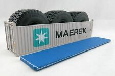 Iconic Replicas 40 ft Shipping Container Open Top Mining Truck Tyre Maersk 1:50