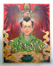 Vintage Red Fak Hong Magic Poster Mounted On Linen