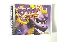 Notice jeu Nintendo Game Boy Advance Spyro 2 Instruction Booklet Manuel EUR