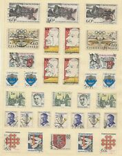 CZECHOSLOVAKIA   USED COLLECTION   222 STAMPS