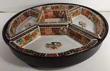 High Quality Vintage IMARI Porcelain Revolving Lazy Susan 5 Serving Bowls