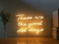 New These Are The Good Old Days Neon Sign For Bedroom Decor Artwork With Dimmer