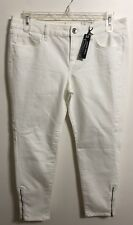 Ladies Ana White Skinny Ankle Jeans Size 32/14