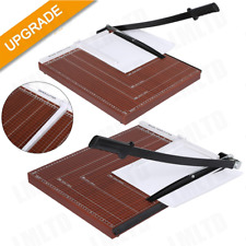 A4 Paper Cutter Guillotine With Heavy Duty Gridded Base Cut Length 12 Sheets