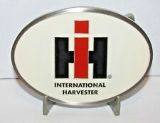 International Harvester IH LOGO Pewter & Epoxy Belt Buckle  Case New Holland cnh