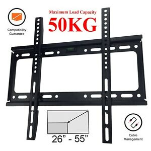 TV Wall Bracket Mount Slim for 26 30 32 37 40 42 50 55 65 inch 3D LCD LED Plasma