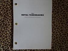 THE ROYAL TENENBAUMS Wes Anderson OWEN WILSON MOVIE script screenplay original
