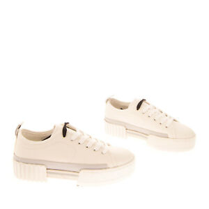 RRP €130 DIESEL S-MERLEY LC Leather Sneakers Size 39 UK 6 US 8.5 Chunky Sole