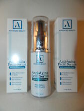 Advanced Beauty Hyaluronic Facial Serum Anti-Aging 1 oz Pump 30ml Sealed Lot x 2