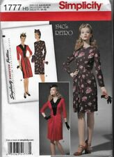 Simplicity Sewing Pattern #1777 DRESS 1940's Retro Style sz 6-14  UNCUT