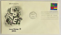 10 USPS PCS Love Stamp 2002 37c Stamp FDC 3657 First Day Issue NEW
