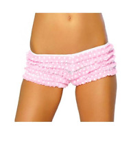 ROMA Pink Polka Dot Ruffle Rhumba Shorts Boyshorts Bloomers Burlesque Costume
