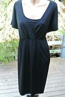 AUTOGRAPH Evening/Party Dress Black- Wrap Bodice Size 18. NEW RRP$89.99