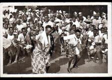 OUIDAH (DAHOMEY / BENIN) DANSE POPULAIRE / DANSEURS au TAM-TAM vers 1930