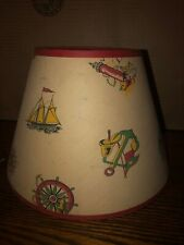Vintage Nautical Clip On Lampshade