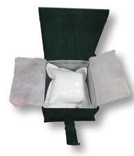 Cofanetto Scatolo Confezione Astuccio Con Cuscino Per Orologio Velluto Verde lac
