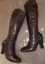 Brown DESIGNER Belstaff Grace STUNNING KNEE HIGH REAL LEATHER WINTER BOOTS 4