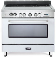 "Verona VEFSEE365W 36"" Electric Range Single Oven Convection True White"