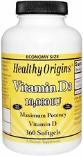 Healthy Origins Vitamina D3 10000 IU 360 Softgels VITAMINE integratore vit. D-3