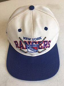 RETRO #1 APPAREL NEW YORK RANGERS FLAT BRIM FITTED HAT
