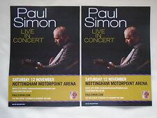 """PAUL SIMON Live """"Stranger to Stranger"""" UK Arena Tour 2016 Promo tour flyers x 2"""
