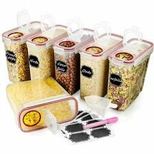 """New listing Food Storage & Organization Sets Large Cereal """" Dry Containers, Wildone Airtight"""