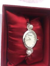 Fontenay of France Women's With Genuine Pearls &  Mother of Pearl  Dual  Watch