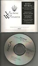 VICKIE WINANS  Just when PROMO Radio DJ CD single USA 1992 MINT USA