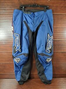 FOX 180 Adult Size 40 Motor Cross Racing Pants w/ Hip Pads Blue/Black/White READ