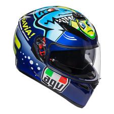 AGV K3 SV Misano Fish Motorcycle Full Face Helmet - Blue