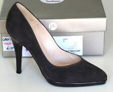 Peter Kaiser Womens Herdi Closed Toe High Heels,Carbon Suede Leather UK Size 5.5