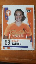 Renate Jansen Oranje dames signed Sticker Panini like AH 2018 /2019. Objectstaat
