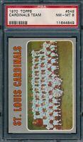 1970 Topps Set Break # 549 St Louis Cardinals Team Card PSA 8 *OBGcards*