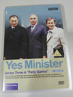 YES MINISTER SERIES THREE & PARTY GAMES 2 X DVD ENGLISH BBC - AM