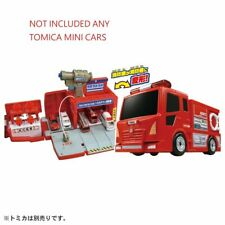 Takara Tomy Tomica World - Transform Fire Truck Fire Station (No Cars included)