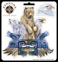 Spirit Animals Native American Car Window Sticker Tribal Wolf Decal Men Women