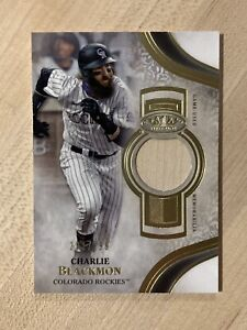 Charlie Blackmon 2021 Topps Tier One Certified Relic Card #291/299 Rockies