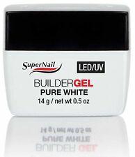 SuperNail LED/UV BuilderGEL Pure White - 0.5oz (51606)