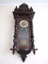 THOMAS HALLER WALL CLOCK!! DANCING PENDULUM!! PERFECT CONDITION!! EAGLE ON TOP!!